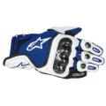 Sportovní krátké kožené rukavice Alpinestars SP-X modré