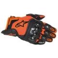 Sportovní krátké kožené rukavice Alpinestars SP-X oranžové