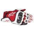 Sportovní krátké kožené rukavice Alpinestars SP-X červené
